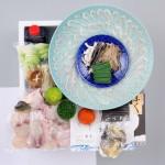 【送料無料】国内産高級とらふぐ料理+とろける白子のセット2~3人前〈野菜付き〉