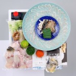 【送料無料】★最高級天然とらふぐ料理+とろける白子のセット2~3人前〈野菜付き〉